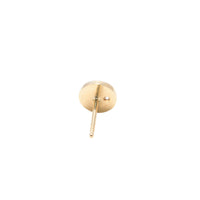 Stud Earrings Round in 18k Gold with Burnished Brilliant Cut Diamond