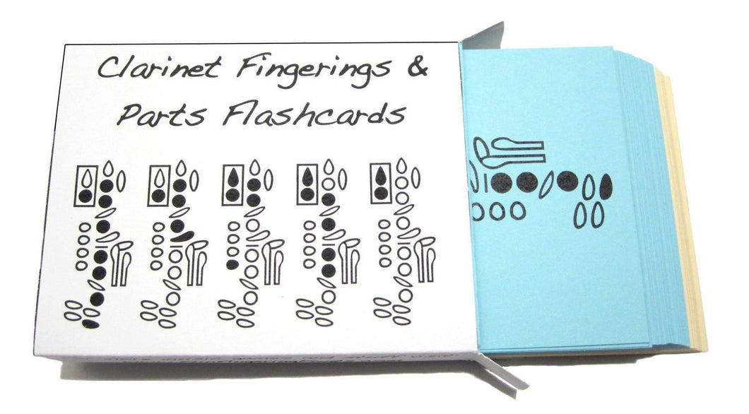 Clarinet Fingering and Parts Flashcards