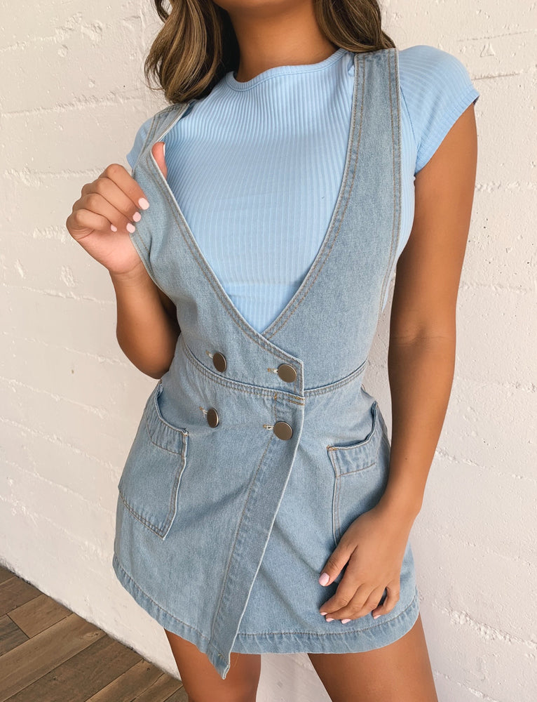 Tiffany Pinafore - Blue