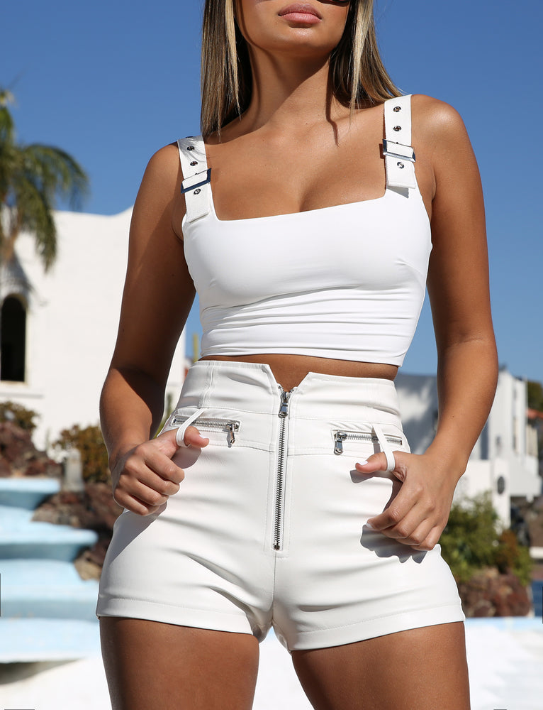 Kailey Crop - White