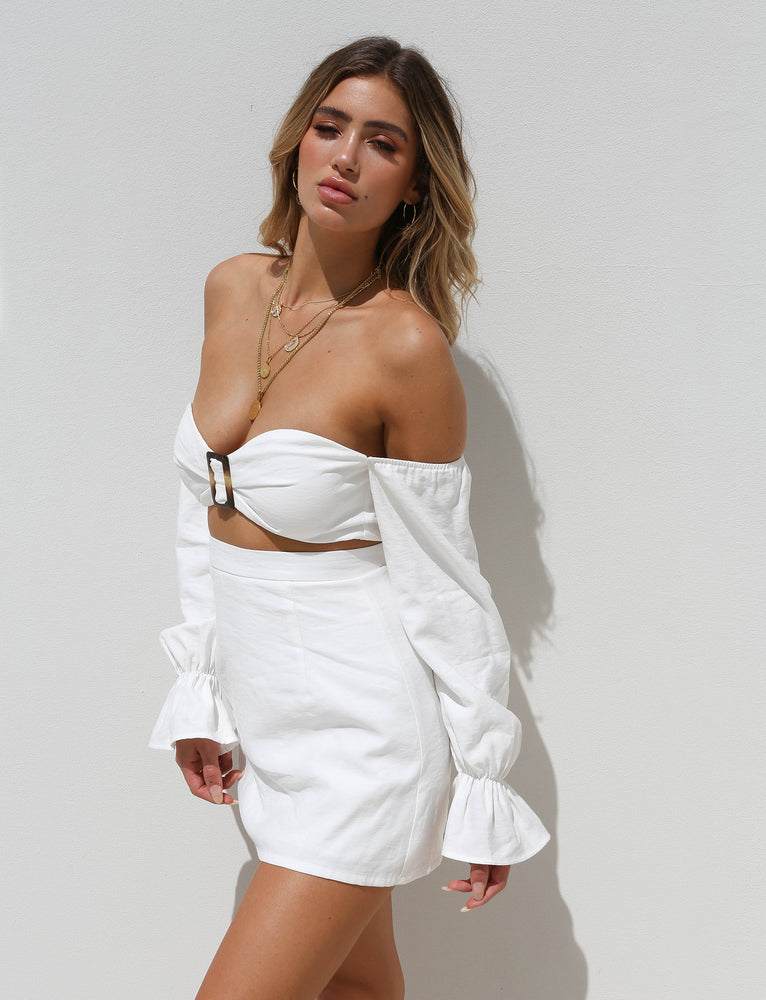 Harper Skirt - White