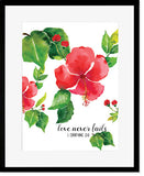 Love Never Fails - Art Print/ Plaque