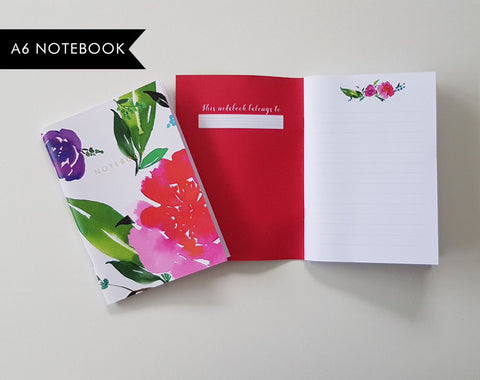 Magenta Florals Notebook | Bullet Journal