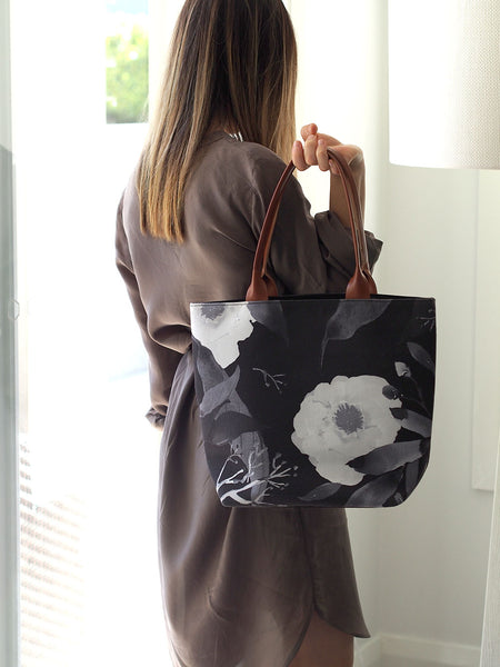 Tote Bag - Paeonia Monochrome (limited stock)