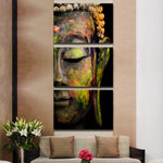 Framed 3pcs Abstract Buddha Modern home decor Canvas Print Painting Wall Art Picture For Living Room Modular picture  PT0032
