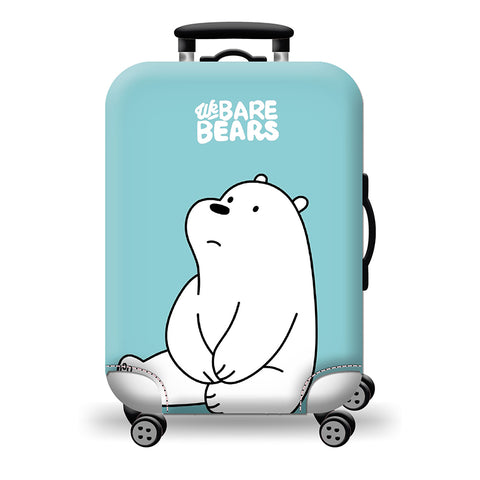 Elastic Travel Luggage Bag Protector Cover -We Bare Bears Blue