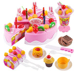 Electronic Kids Cutting Birthday Cake Playset  75 Pieces