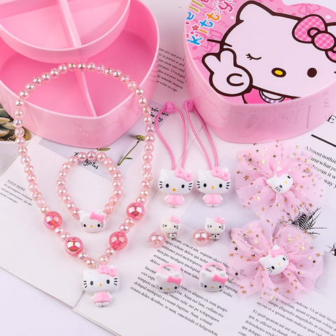 Hello Kitty Jewelry Hair Accessories Gift Set For Kids