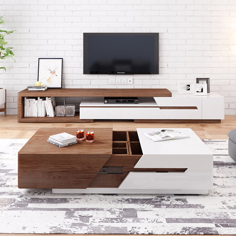 Premium Wooden  Furniture TV Console + Coffee Table Set
