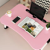 Anti-slip Foldable Laptop Table With Tablet Slot