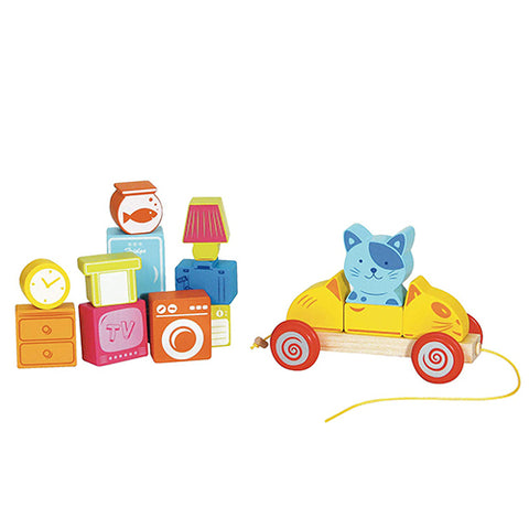 House Of Toy Scratchy the Cat's Moving Day 17-Piece Train Set