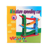 Wooden Miniature Speeding Car Set