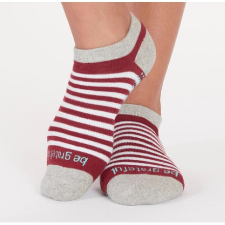 Be Grateful Greyhound Stripe StickyBe Grip Socks - Studio To Street Boutique