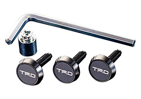 TRD JAPAN License Plate Lock Bolt Set