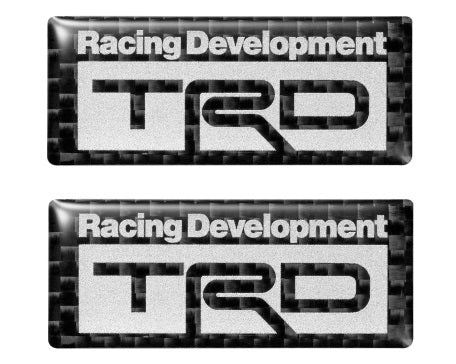 2018 TRD JAPAN Carbon Badge Set (Set of 2)