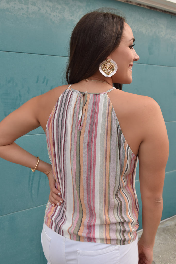 Davi Striped Tie Tank