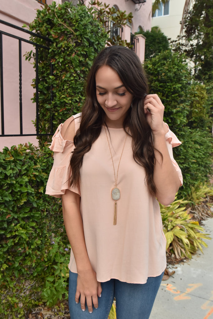 Peachy Cut Out Top