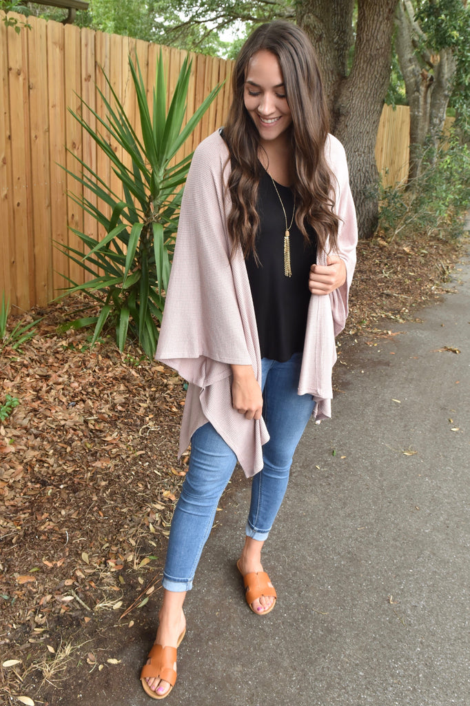 Daydreamer Cardigan- Light Pink
