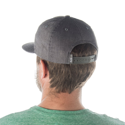 Flat Bill Cap, Offset MTN Top