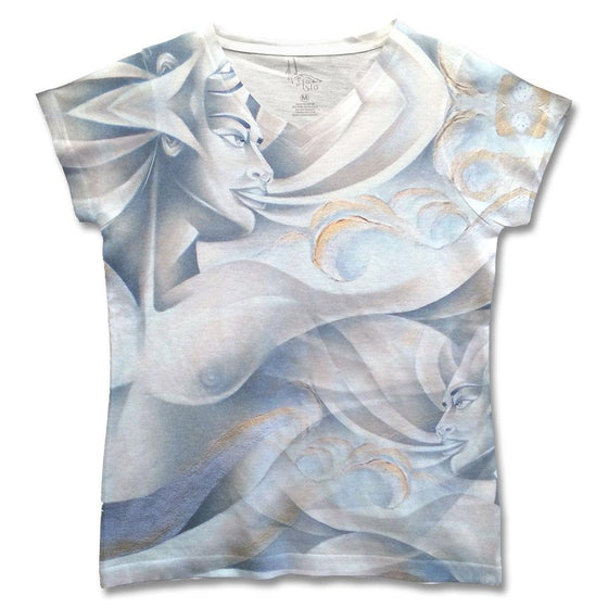 "Fine art shirt by Noel Suarez featuring a stylized version of his painting ""Air"" from his ""Elements"" series."
