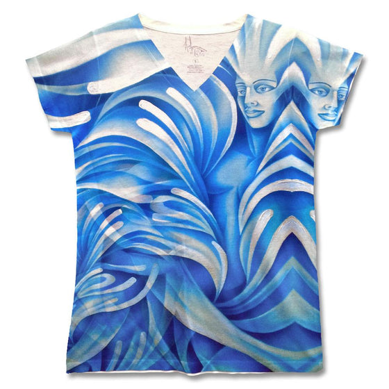 "Fine art shirt by Noel Suarez featuring a stylized version of his painting ""Water"" from his ""Elements"" series."