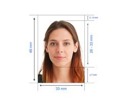 China Visa Photo - 33x48 mm - Tomamor DIY Passport Visa Photo