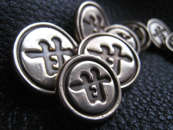 Custom Blazer Buttons in Solid BRONZE with Chinese Ideograph Character