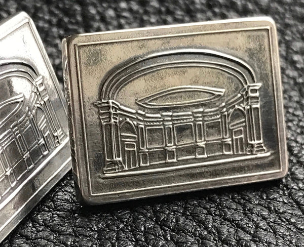 Sterling Silver Cufflinks with Custom Logo or Design Featuring Carnegie Hall - 25th Anniversary