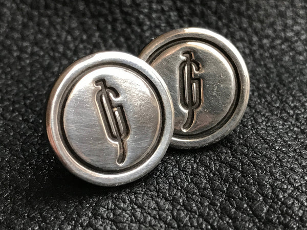 Wedding Logo  Intertwined Linked Letters Cuff Links Cufflinks in Sterling Silver