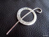 Little Leaf  Monogrammed Shawl Pin Stick and Ring in Fine and Sterling Silver