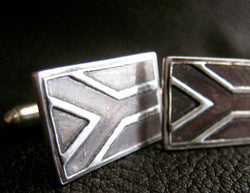 South African Flag Cufflinks in Sterling Silver - Custom - EXAMPLE