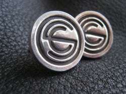 EXAMPLE  Custom Sterling Silver Cufflinks with Business Logo or Wedding Logo