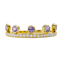 Purple Sapphire Crown Ring
