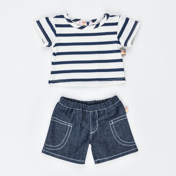 Denim Shorts & Short Sleeve T-shirt; clothes for 46cm HP