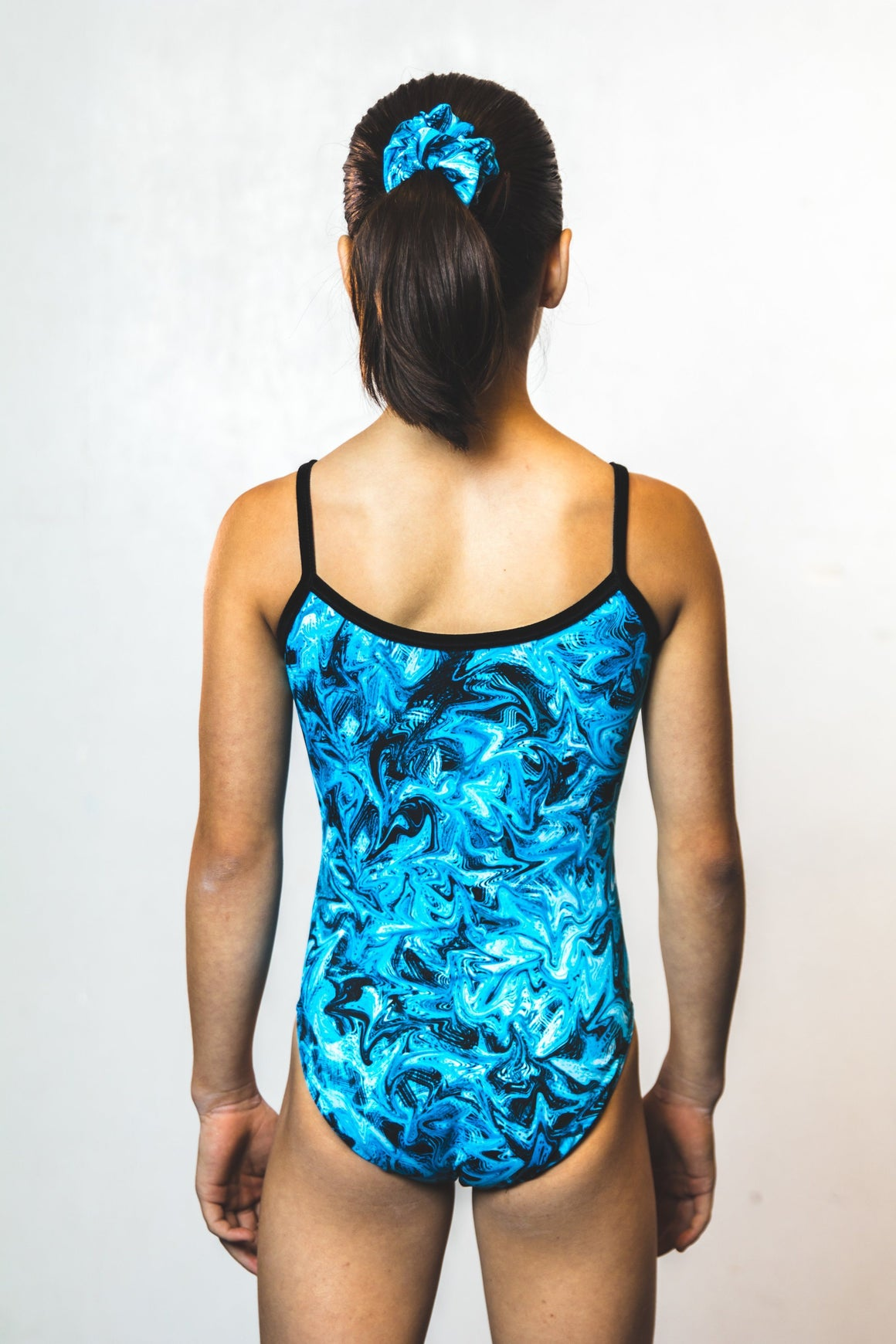 Turbulent blue, gymnastics, Rebecca's Mom Leotards, Leotard.com - image