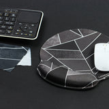 1-LIZI MANDU Memory Foam Non Slip Mouse Pad Wrist Rest For Office, Computer, Laptop & Mac - Durable & Comfortable & Lightweight For Easy Typing & Pain Relief-Ergonomic Support(Black Fragment)