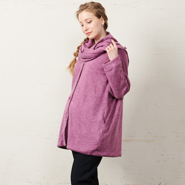 Maternity and Babywearing Multifunctional Cardigan with Shawl Collar
