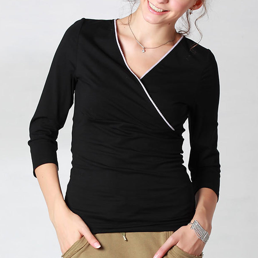 Maternity and Nursing Fleeced Liner Cotton Top