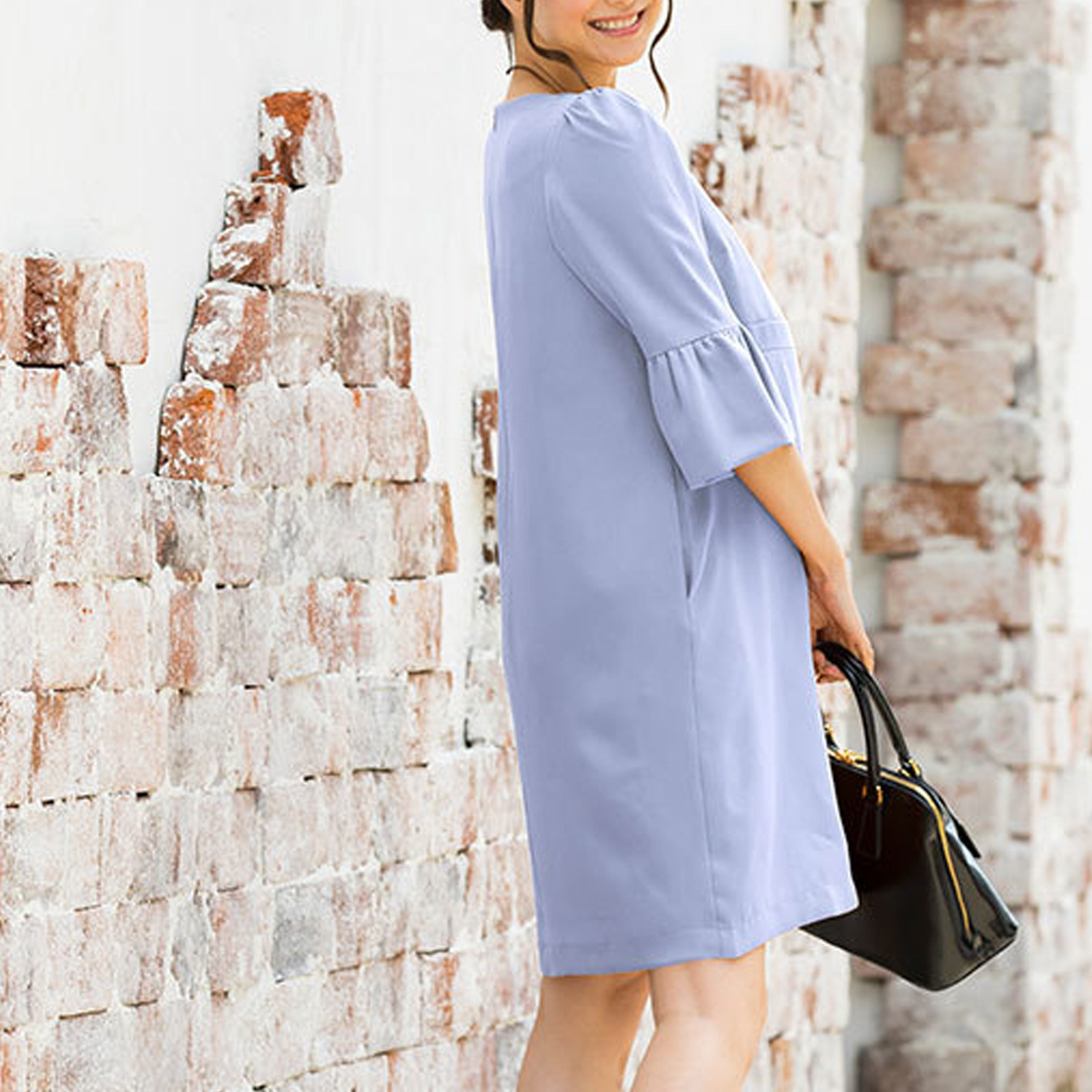Maternity and Nursing Frill Sleeve Dress