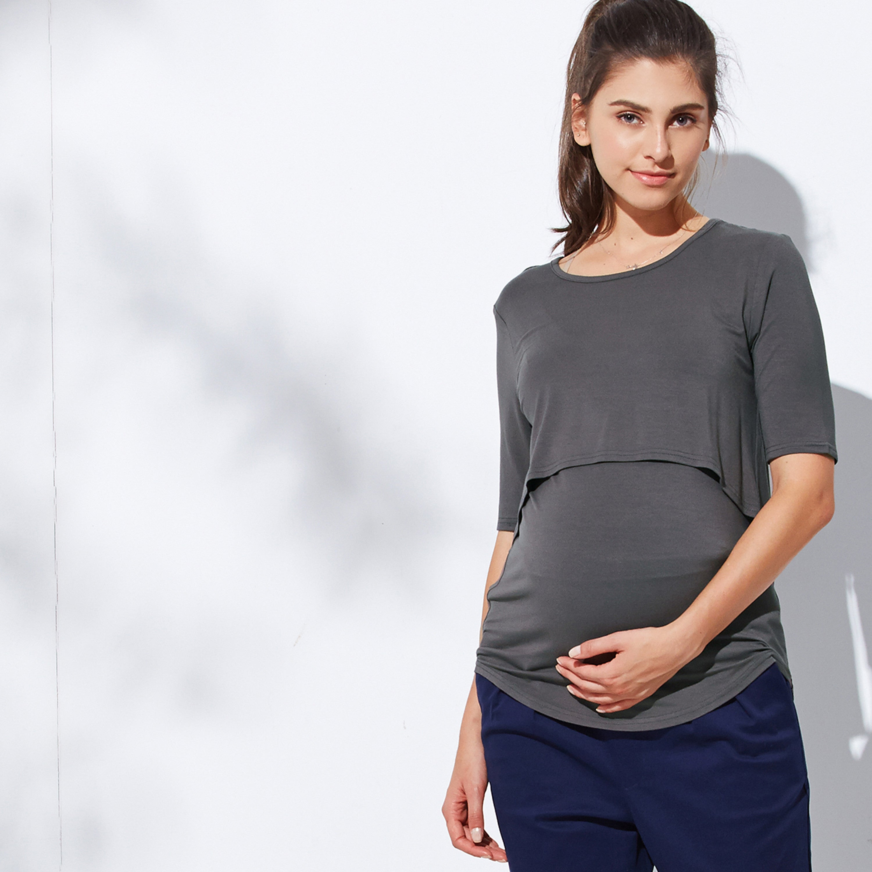Maternity and Nursing Rayon Juicy Tee