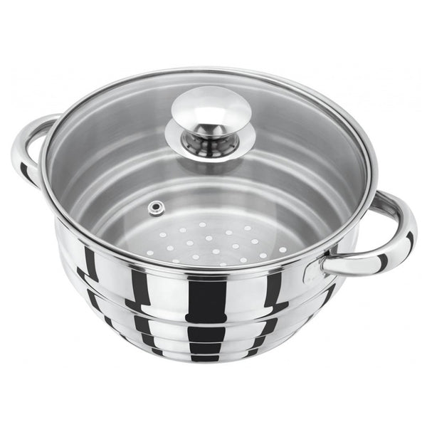 Judge Stainless Steel Multi Steamer Insert & Glass Lid Fits 16-18-20cm