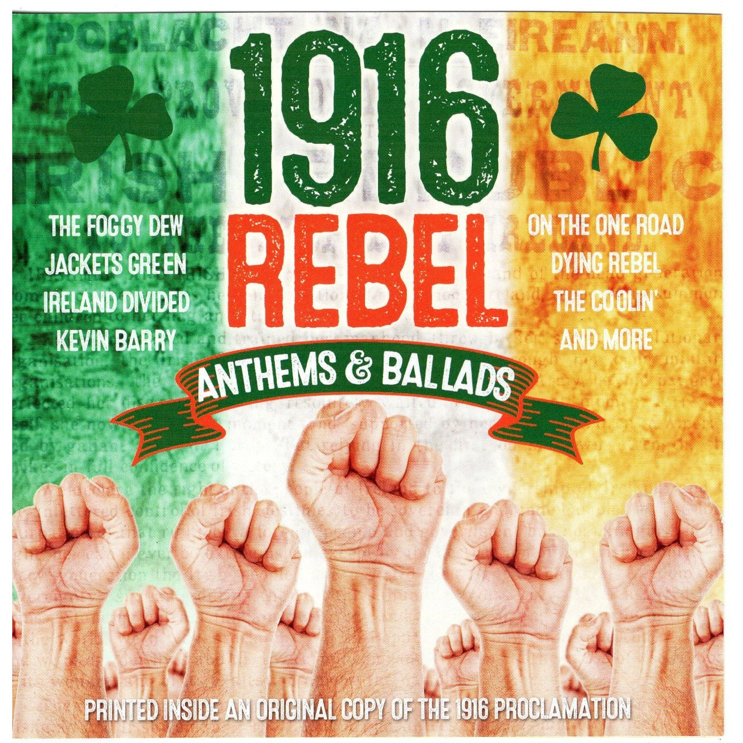 1916 REBEL ANTHEMS AND BALLADS: THE PROCLAMATION [CD]