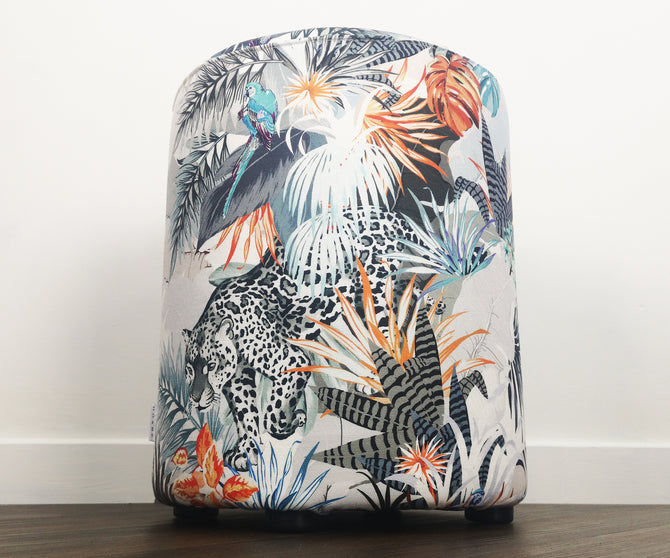 Fire fabric stool