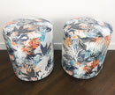 Fire fabric pair stool