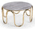Kratos marble top effect coffee table with stainless steel base