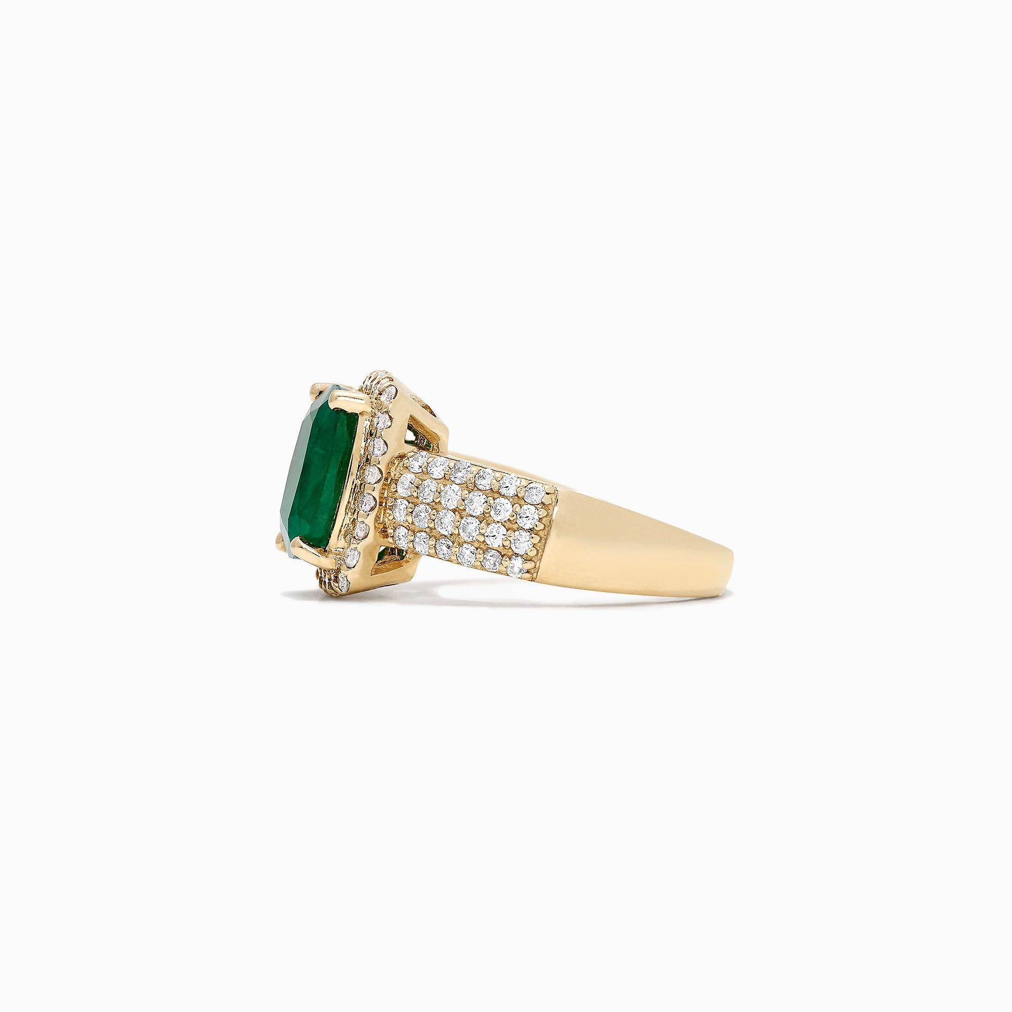 Effy Brasilica 14K Yellow Gold Emerald and Diamond Ring, 3.48 TCW