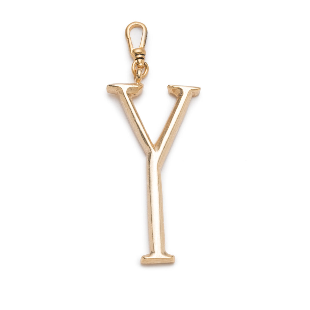 Plaza Letter Y Charm