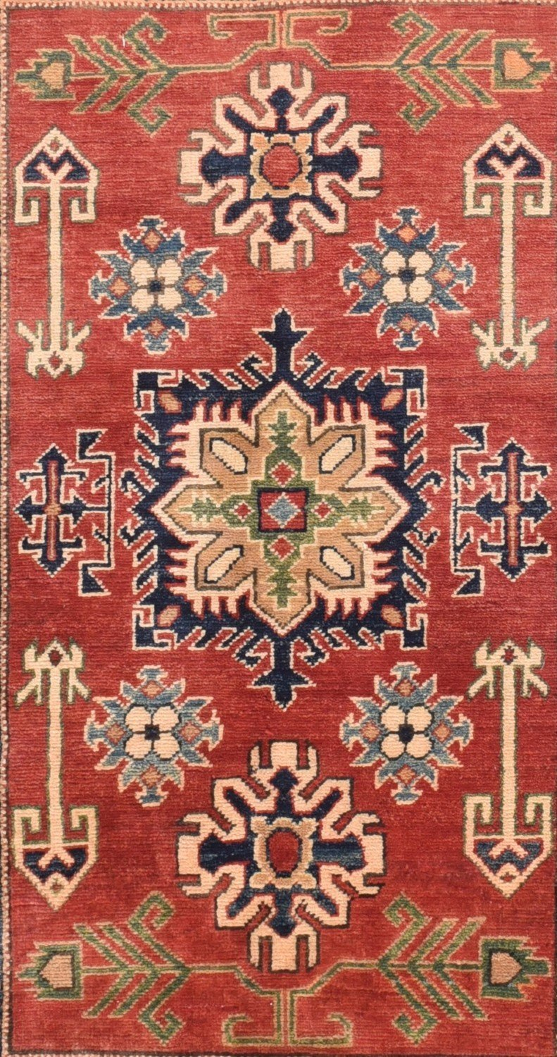 Semi-Antique Pakistan Kazak Rug