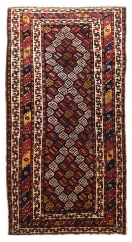 Semi Antique Persian Tehran Rug