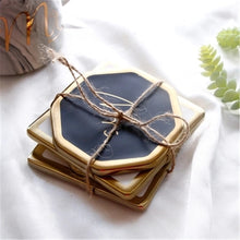 Mr. & Mrs. Gold and White or Black Circle, Octagon, or Square Coasters that Give back to charity by ROX – Wedding Gifts under $25